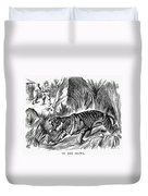 India: Famine, 1896 Duvet Cover