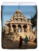 India Mahabalipuram  Duvet Cover