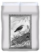 India: Water Ouzels Duvet Cover