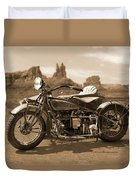 Indian 4 Sidecar Duvet Cover