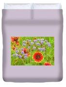 Indian Blanketflowers Gaillardia Puchella Duvet Cover