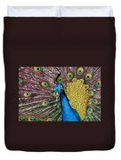 Indian Blue Peacock Duvet Cover