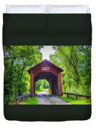 Indian Camp Covered Bridge Duvet Cover