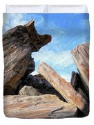 Indian Canyon Rocks Duvet Cover