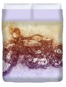 Indian Chief 2 - 1922 - Vintage Motorcycle Poster - Automotive Art Duvet Cover