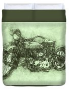 Indian Chief 3 - 1922 - Vintage Motorcycle Poster - Automotive Art Duvet Cover