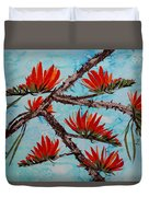 Indian Coral Tree Duvet Cover