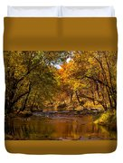 Indian Creek In Fall Color Duvet Cover