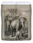 Indian Elephant, Endangered Species Duvet Cover