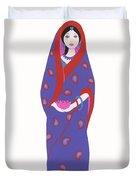 Indian Girl Duvet Cover