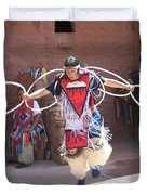 Indian Hoop Dancer Duvet Cover