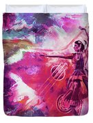 Indian Kathak Dance 87y Duvet Cover