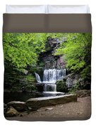 Indian Ladder Falls Duvet Cover