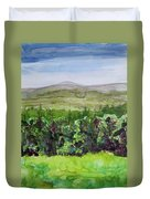 Hour Pond Mountain, Indian Lake Overlook Panorama 2 Duvet Cover