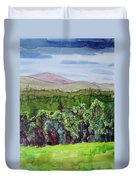 Chimney Mountain, Indian Lake Overlook Panorama 4 Duvet Cover