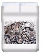 Indian Leopard Duvet Cover