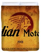 Indian Motocycle 1901 - America's First Motorcycle Company Duvet Cover