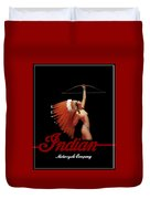 Indian Motorcycle Company Pinline Duvet Cover