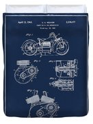 Indian Motorcycle Patent 1943 Blue Duvet Cover