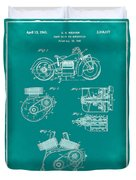 Indian Motorcycle Patent 1943 Green Duvet Cover