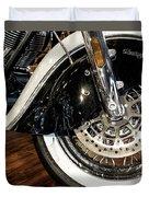 Indian Motorcycle Wheel Duvet Cover