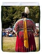Indian Nation Pow Wow Dancers Duvet Cover