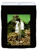 Indian Pipes - Monotropa Uniflora Duvet Cover