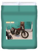 Indian Racing Motorcycle 34 Duvet Cover
