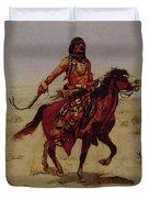 Indian Rider Duvet Cover