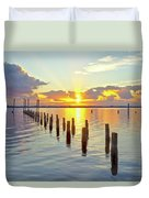 Indian River Sunrise Duvet Cover