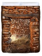 Indian Ruins Doorway Duvet Cover