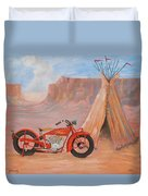 Indian Scout Duvet Cover
