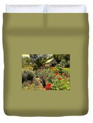 Indian Summer Garden Duvet Cover