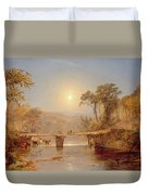 Indian Summer On The Delaware River Duvet Cover