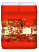 Indian Summer - Red Contemporary Abstract Duvet Cover