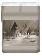 Indian Tee Pee Duvet Cover