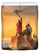 Indian Telegraph Duvet Cover by John Mix Stanley