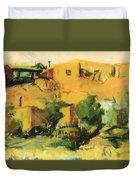 Indian Village 1917 Duvet Cover