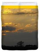 Indiana Farm Sunset 3 Duvet Cover