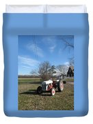 Indiana Hwy 63 South Vintage Ford Tractor Color Version Duvet Cover