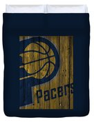 Indiana Pacers Wood Fence Duvet Cover
