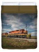 Indiana Southern Railroad Locomotives At Edwardsport Indina Duvet Cover
