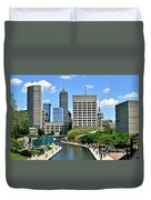 Indianapolis Canal Duvet Cover