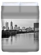 Indianapolis Charcoal Panoramic Duvet Cover