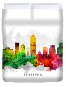 Indianapolis Indiana Cityscape 12 Duvet Cover