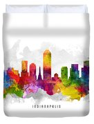 Indianapolis Indiana Cityscape 13 Duvet Cover