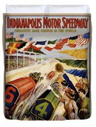 Indianapolis Motor Speedway Vintage Poster 1909 Duvet Cover