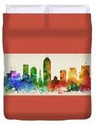 Indianapolis Skyline Panorama Usinin-pa03 Duvet Cover
