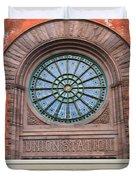 Indianapolis Union Station Building Duvet Cover
