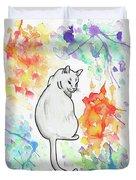 Indifferent Cat Duvet Cover